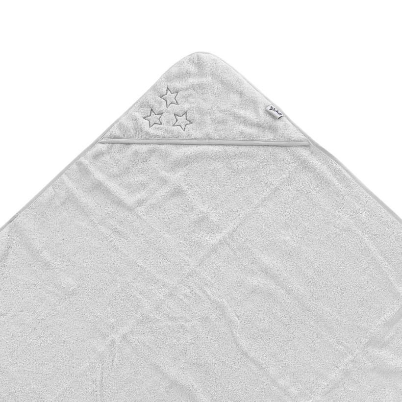 BIO Baumwollefrotteebadetuch mit Kapuze XKKO Organic 90x90 - White Stars 5x1St. (GH pack.)