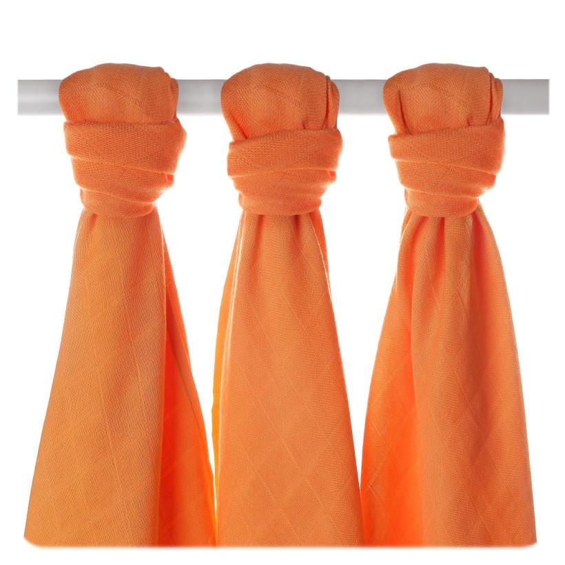 XKKO BMB Musselin Bambuswindeln 70x70 -  Orange 3er Pack