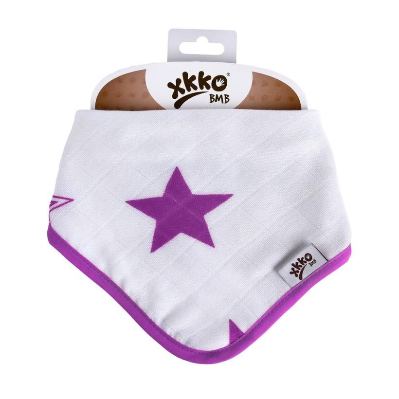 Kinderschal XKKO BMB - Lillac Stars 3x1 St. (GH packung)