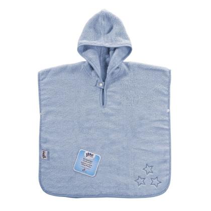 BIO Baumwollefrotteeponcho XKKO Organic - Baby Blue Stars 1St.