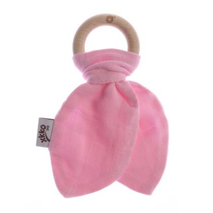 XKKO BMB Beissring mit Blätter - Baby Pink 1St.