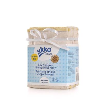 XKKO Organic Faltwindeln (4/6/4) - BirdEye Newborn Natural 6er Pack