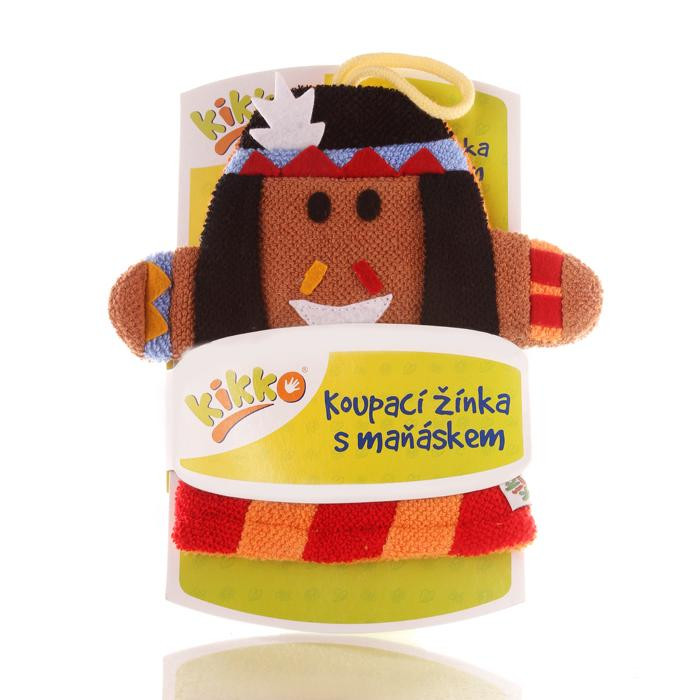 XKKO Waschlappemit Handpuppe (BA) - Indian