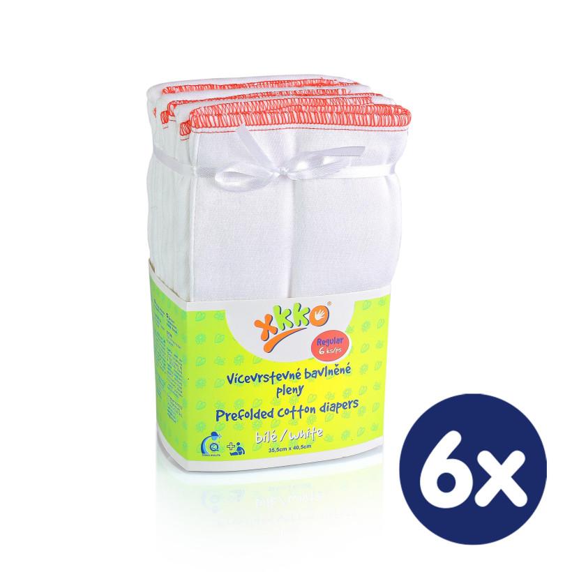 XKKO Classic Faltwindeln (4/8/4) - Regular White 6x6er Pack (GH Packung)