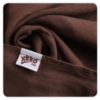 XKKO BMB Musselin Bambuswindeln 70x70 - Choco MIX 3er Pack
