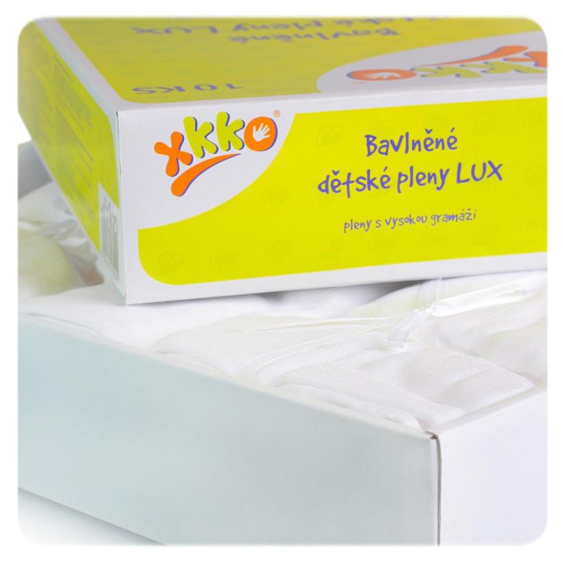 Baumwollwindeln XKKO LUX 70x70 - White 10er Pack