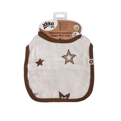 XKKO BMB Kinderlätzchen - Natural Brown Stars