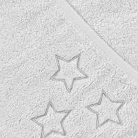 BIO Baumwollefrotteebadetuch mit Kapuze XKKO Organic 90x90 - White Stars 1St.