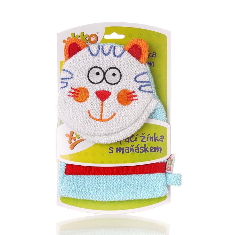 XKKO Waschlappemit Handpuppe (BA) - Cat