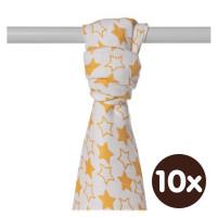 XKKO BMB  Windeltücher 90x100 - Little Stars Orange 10x1St.(GH packung)