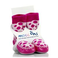 Mocc Ons Hüttenschuhe - Pink Spots