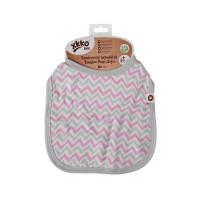 XKKO BMB Kinderlätzchen - Baby Pink Chevron 3x1St. (GH Packung)