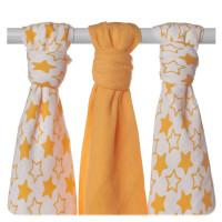 XKKO BMB Musselin Bambuswindeln 70x70 - Little Stars Orange MIX 10x3er Pack (GH packung)