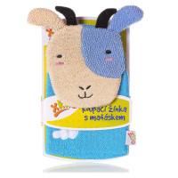 XKKO Waschlappemit Handpuppe (BA) - Sheep