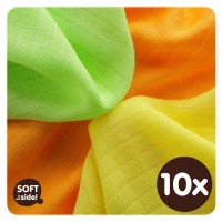 XKKO BMB Bambuswindeln 30x30 - Colours MIX 10x9er Pack (GH packung)