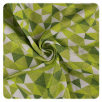 XKKO BMB Bambus Musselinwickeltuch 120x120 - Limited Edition Green Triangles 1 St.