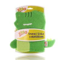 XKKO Waschlappemit Handpuppe (BA) - Crocodile