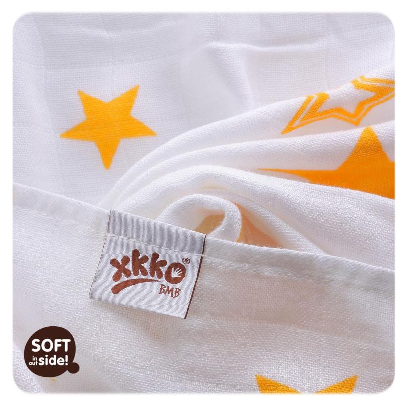 XKKO BMB  Windeltücher 90x100 - Orange Stars 1St.