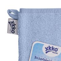 BIO baumwollefrotteewaschlappen XKKO Organic - Baby Blue 1St.