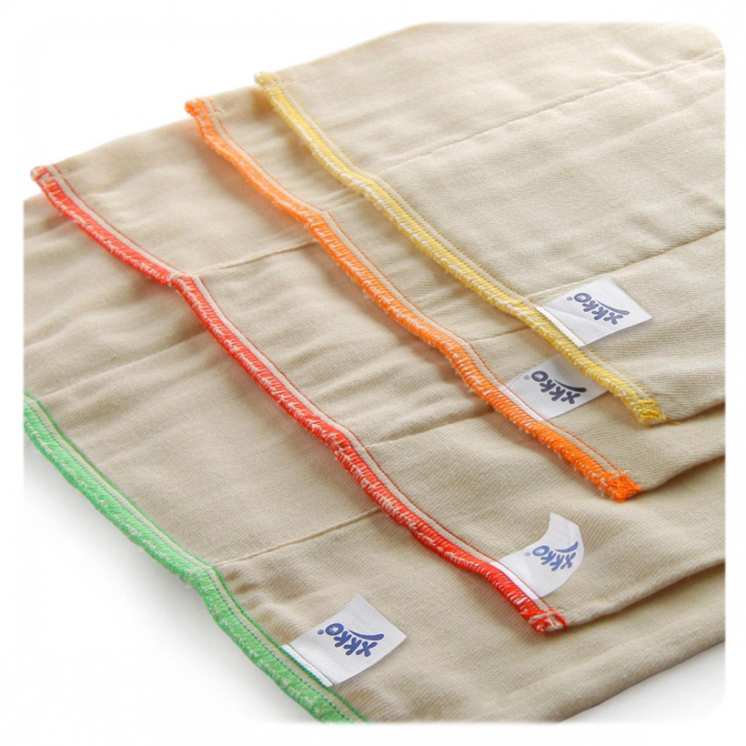 XKKO Classic Faltwindeln (4/8/4) - Infant Natural 24x6er Pack (GH Packung)