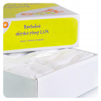 Baumwollwindeln XKKO LUX 80x80 - White 10er Pack