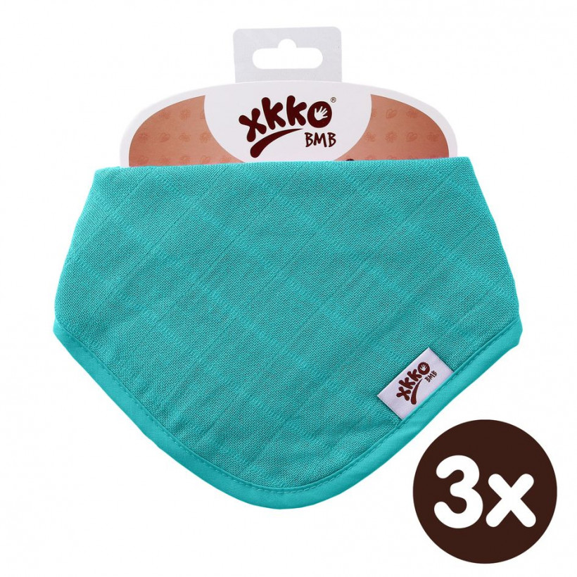 Kinderschal XKKO BMB - Turquoise 3x1 St. (GH packung)