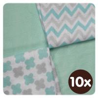 XKKO BMB Bambuswindeln 30x30 - Scandinavian Mint MIX 10x9er Pack (GH packung)
