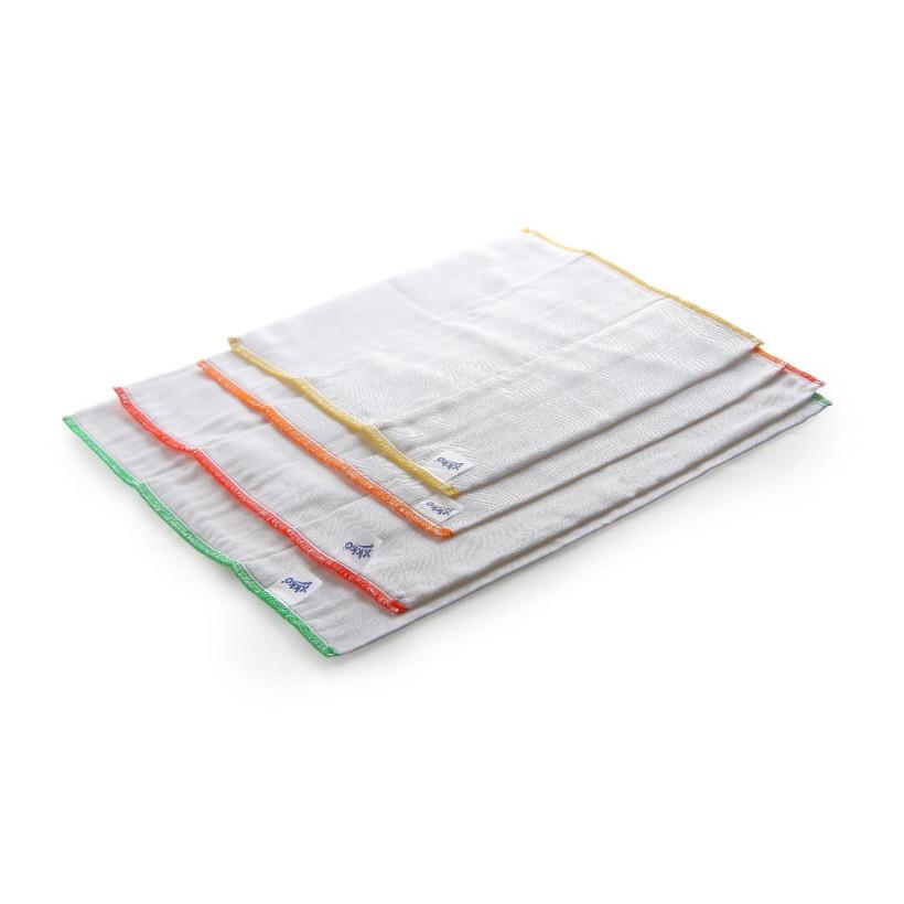 XKKO Classic Faltwindeln (4/8/4) - Newborn White 6er Pack