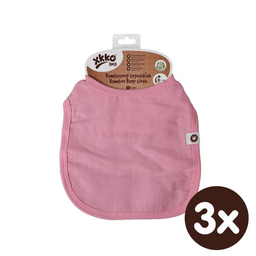 XKKO BMB Kinderlätzchen - Baby Pink 3x1St. (GH Packung)