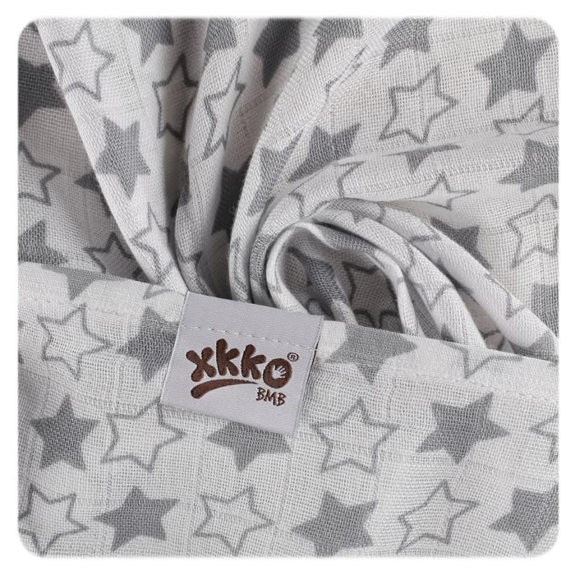 XKKO BMB  Windeltücher 90x100 - Little Stars Silver 10x1St.(GH packung)