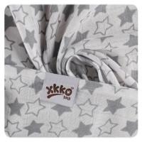 XKKO BMB Musselin Bambuswindeln 70x70 - Little Stars Silver MIX 3er Pack