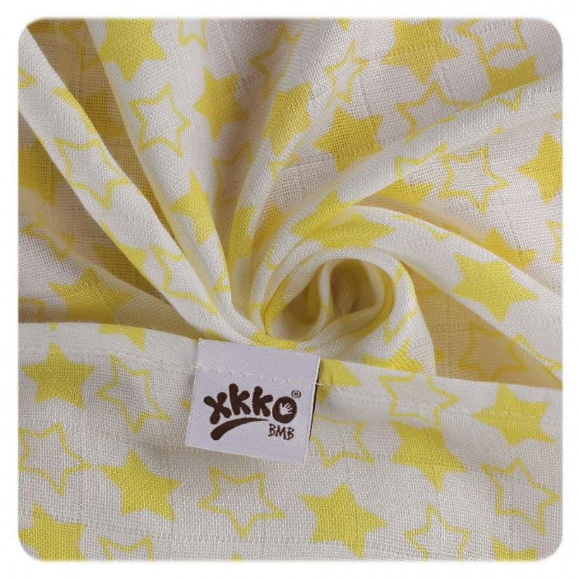 XKKO BMB  Windeltücher 90x100 - Little Stars Lemon 1St.