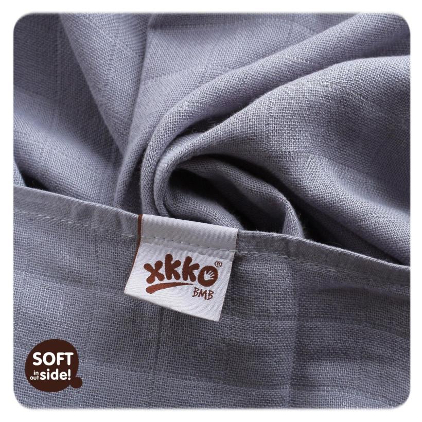 XKKO BMB Musselin Bambuswindeln 70x70 -  Silver 3er Pack