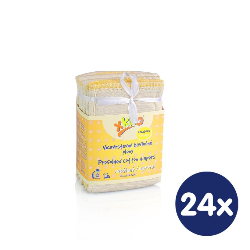 XKKO Classic Faltwindeln (4/8/4) - Newborn Natural 24x6er Pack (GH Packung)