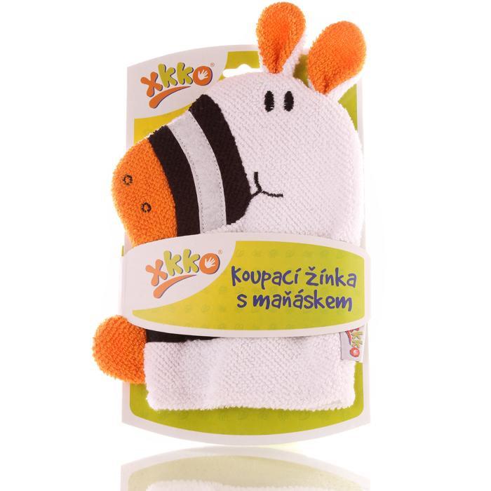 XKKO Waschlappemit Handpuppe (BA) - Zebra New 12x1St. (GH Packung)