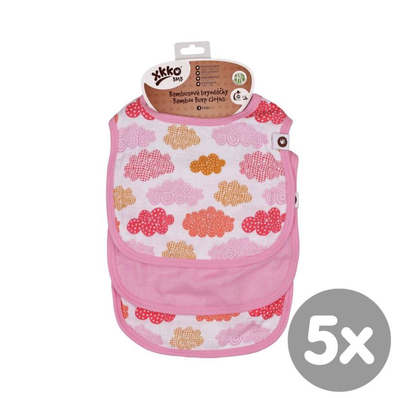 XKKO BMB Kinderlätzchen - Heaven for Girls MIX 5x3er Pack (GH Packung)