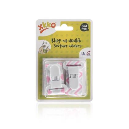XKKO Schnuller-Clip - Scandinavian Baby Pink MIX 2 St.