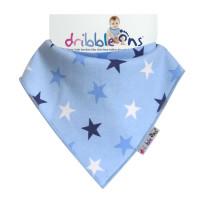 Dribble Ons Designer-  Blue Stars