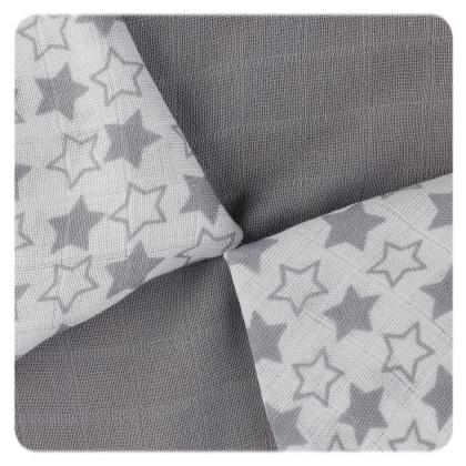XKKO BMB Bambuswindeln 30x30 - Little Stars Silver MIX 9er Pack