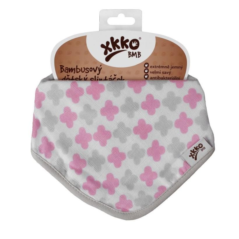 Kinderschal XKKO BMB - Scandinavian Baby Pink Cross 1 St.