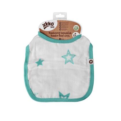 XKKO BMB Kinderlätzchen - Turquoise Stars