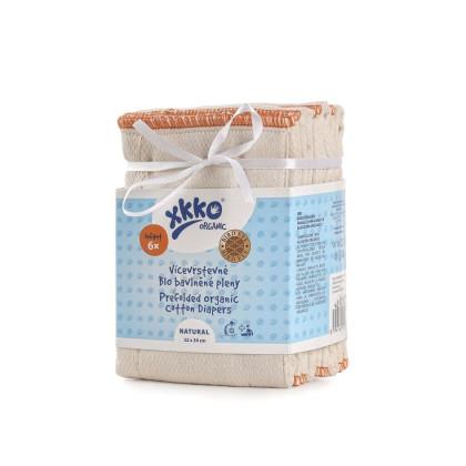 XKKO Organic Faltwindeln (4/6/4) - BirdEye Infant Natural 6er Pack