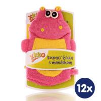 XKKO Waschlappemit Handpuppe (PE)- Hippo 12x1St. (GH Packung)