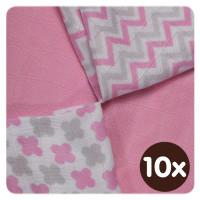 XKKO BMB Bambuswindeln 30x30 - Scandinavian Baby Pink MIX 10x9er Pack (GH packung)