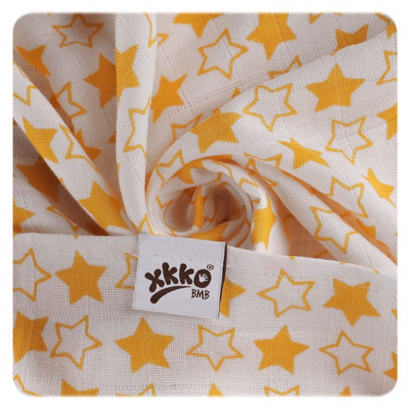 XKKO BMB  Windeltücher 90x100 - Little Stars Orange 10x1St.(GH packung)