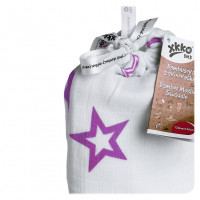 XKKO BMB Bambus Musselinwickeltuch 120x120 - Lilac Stars 5x1 St. (GH packung)