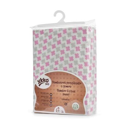 XKKO BMB 120x60 Babymatratzen Spannbezug - Baby Pink Cross