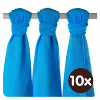 XKKO BMB Musselin Bambuswindeln 70x70 - Cyan 10x3er Pack (GH packung)