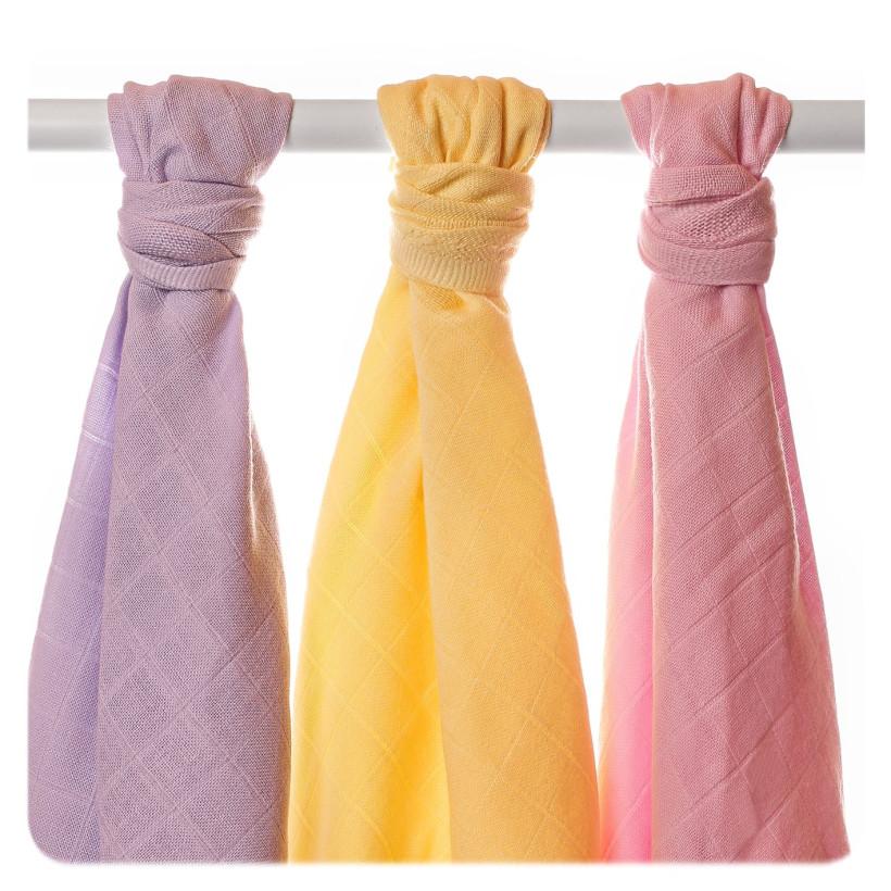 BIO Windeltücher XKKO Organic Old Times 90x100 - Pastels For Girls 3er Pack
