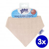 Kinderschal XKKO Organic Old Times - Natural 3x1St. (GH Packung)